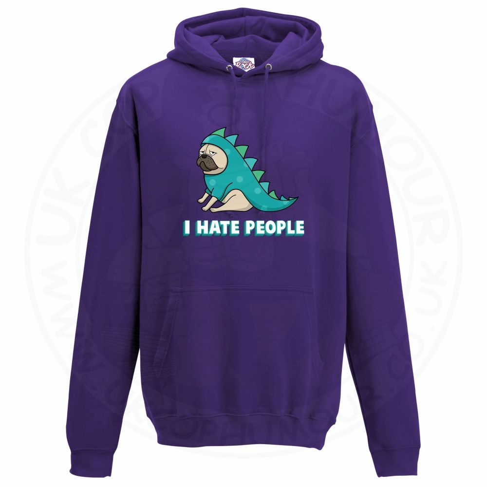 Unisex HATE PEOPLE Hoodie - Purple, 3XL