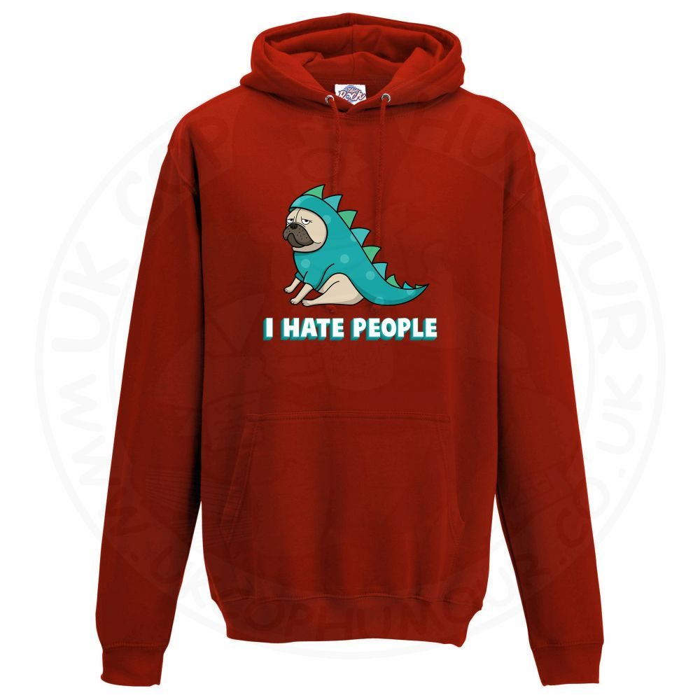 Unisex HATE PEOPLE Hoodie - Red, 3XL