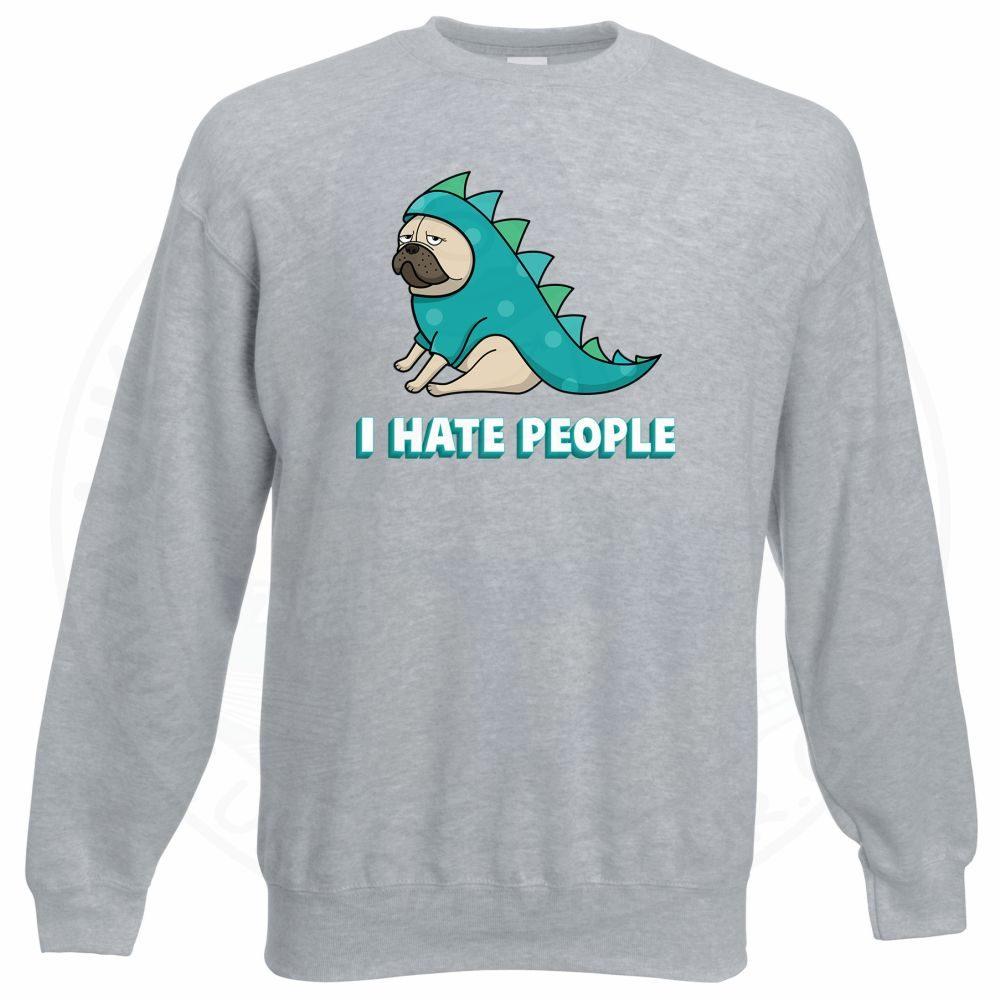 HATE PEOPLE Sweatshirt - Grey, 3XL