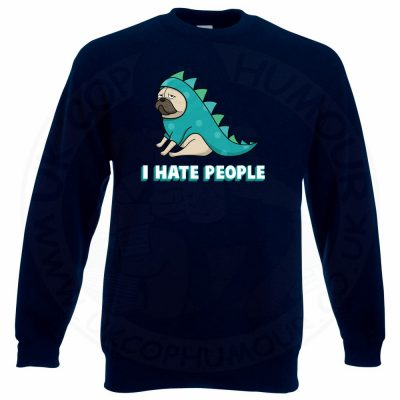 HATE PEOPLE Sweatshirt - Navy, 3XL