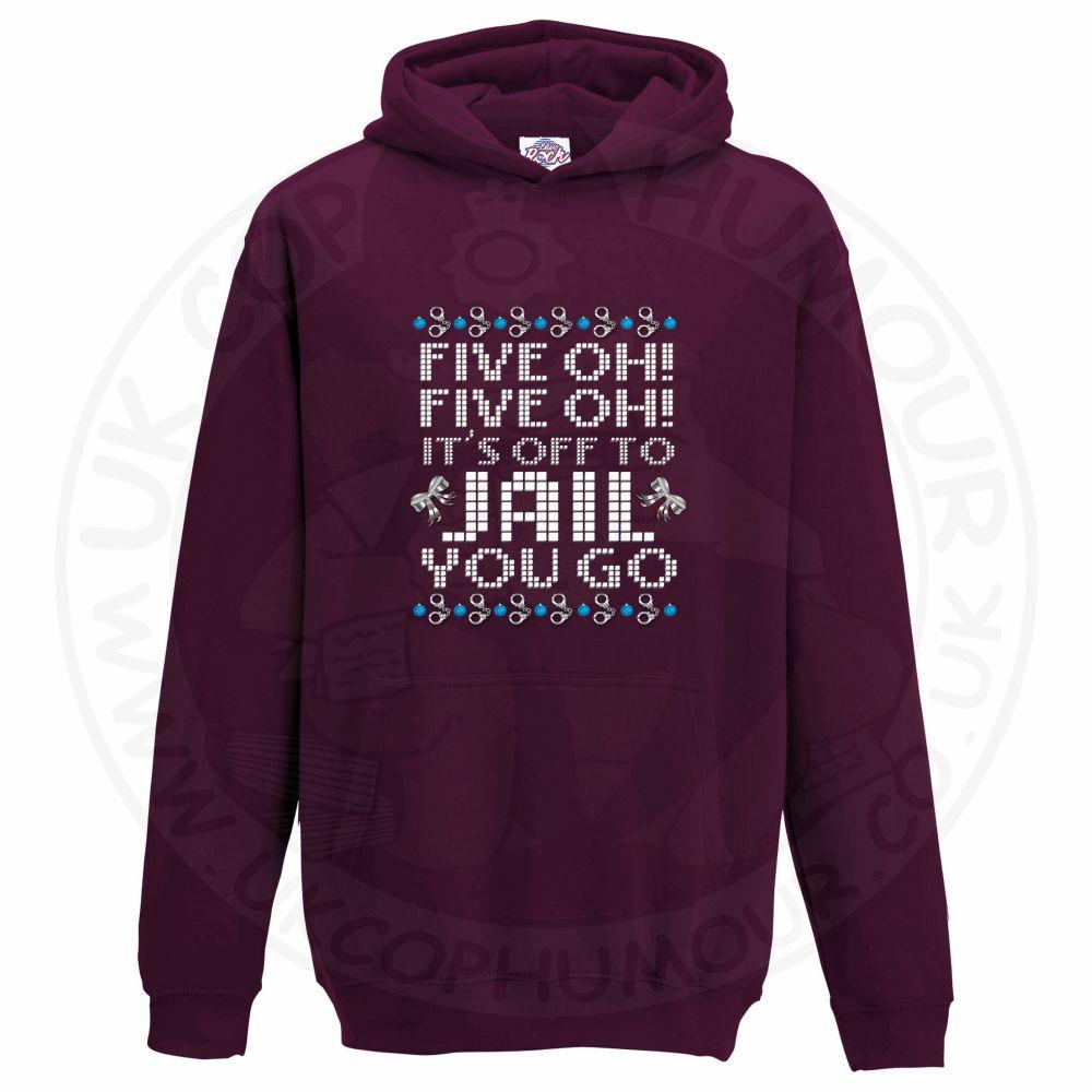 Kids Five OH Five OH Hoodie - Maroon, 12-13 Years