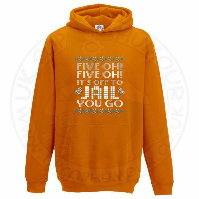 Kids Five OH Five OH Hoodie - Orange, 12-13 Years