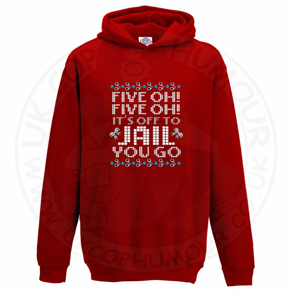 Kids Five OH Five OH Hoodie - Red, 12-13 Years