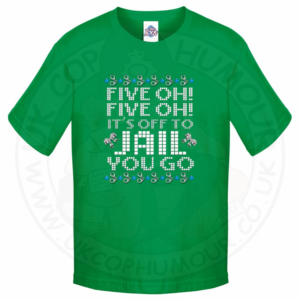 Kids Five OH Five OH T-Shirt - Kelly Green, 12-13 Years