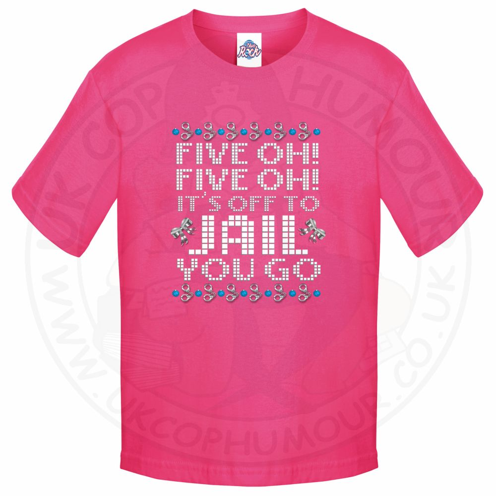 Kids Five OH Five OH T-Shirt - Pink, 12-13 Years