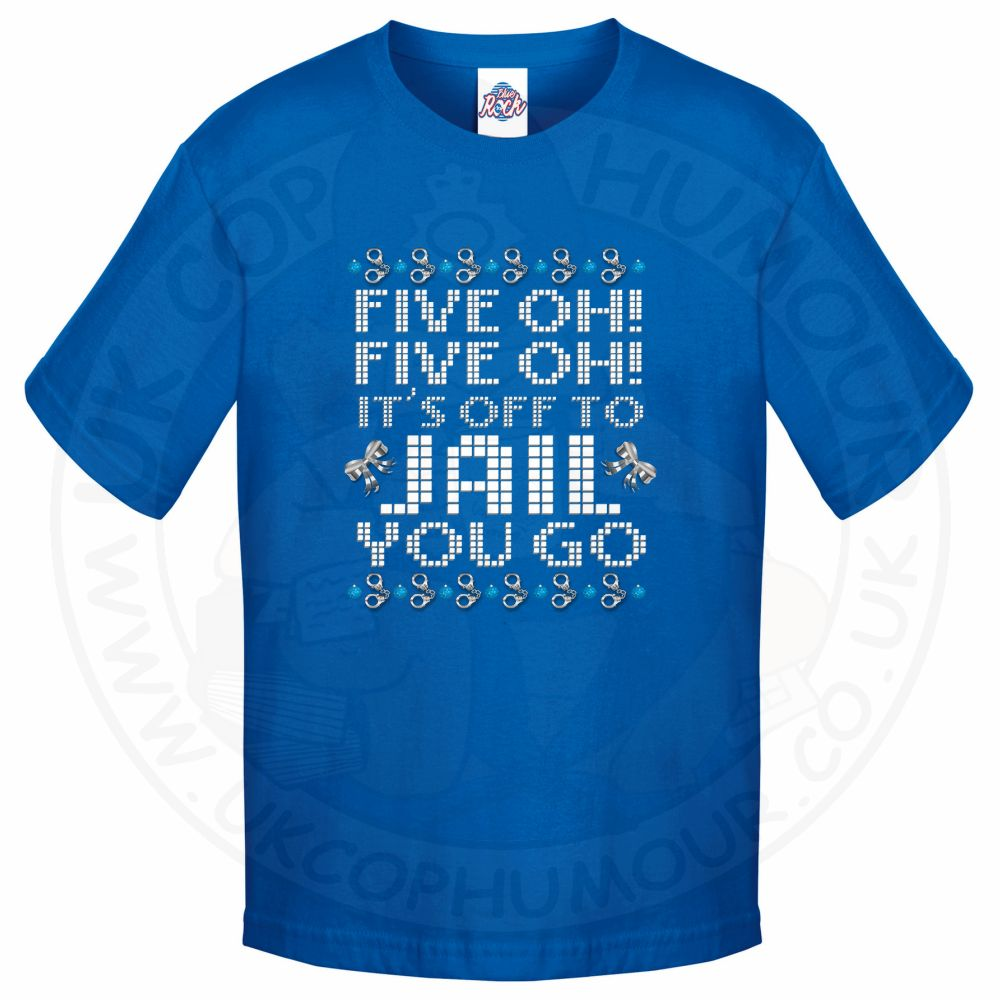 Kids Five OH Five OH T-Shirt - Royal Blue, 12-13 Years