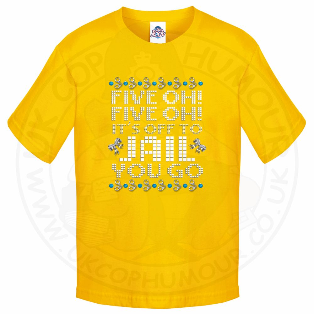 Kids Five OH Five OH T-Shirt - Yellow, 12-13 Years
