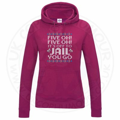 Ladies Five OH Five OH Hoodie - Hot Pink, 18