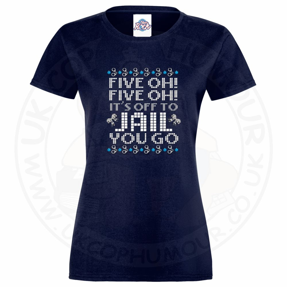 Ladies Five OH Five OH T-Shirt - Navy, 18
