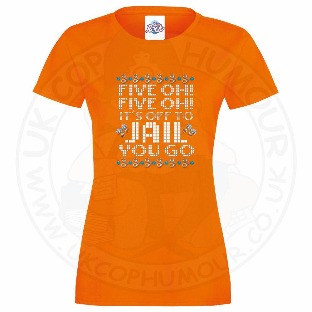 Ladies Five OH Five OH T-Shirt - Orange, 18