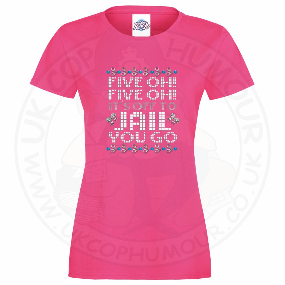 Ladies Five OH Five OH T-Shirt - Pink, 18