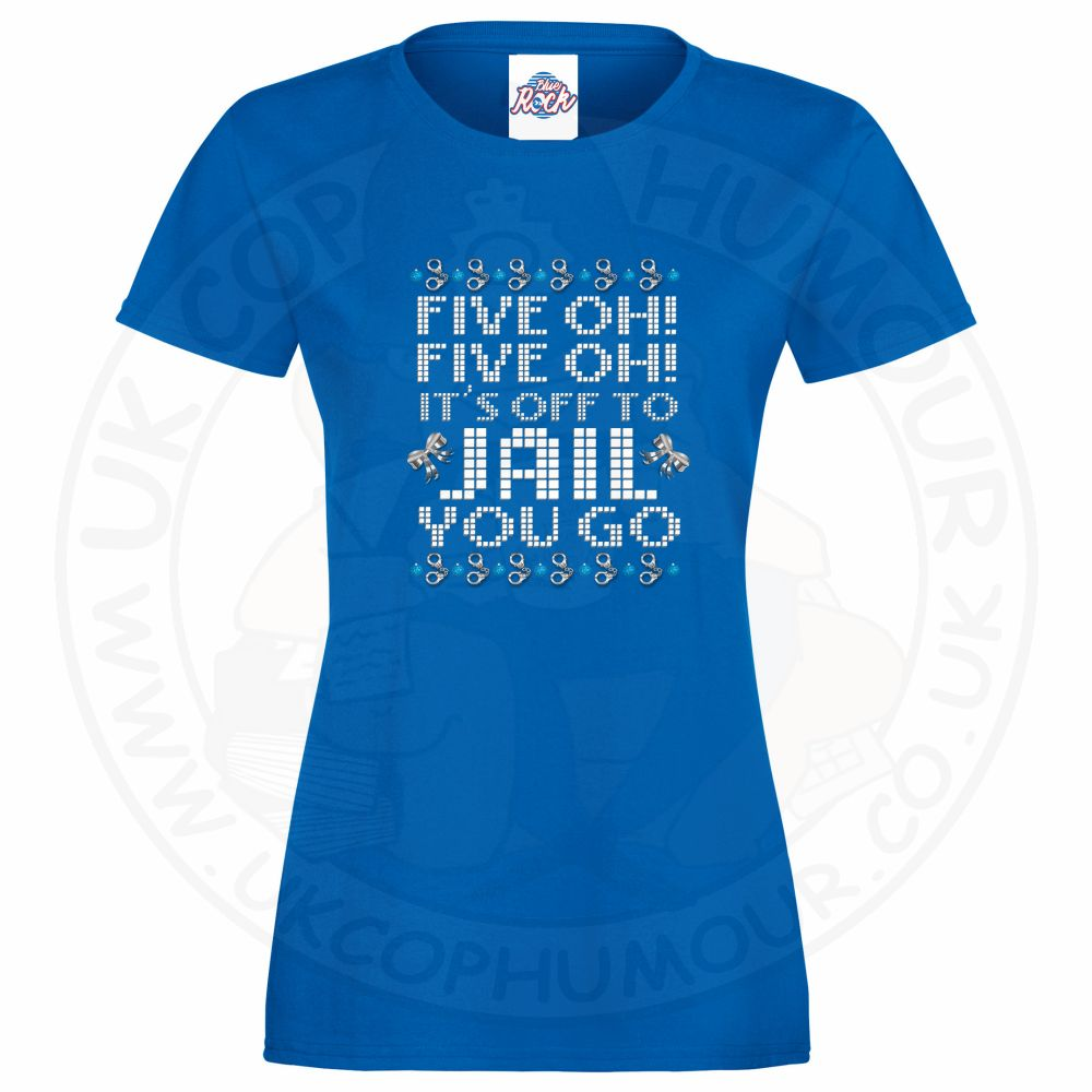 Ladies Five OH Five OH T-Shirt - Royal Blue, 18