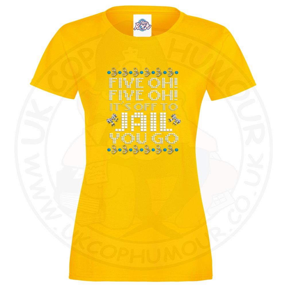 Ladies Five OH Five OH T-Shirt - Yellow, 18