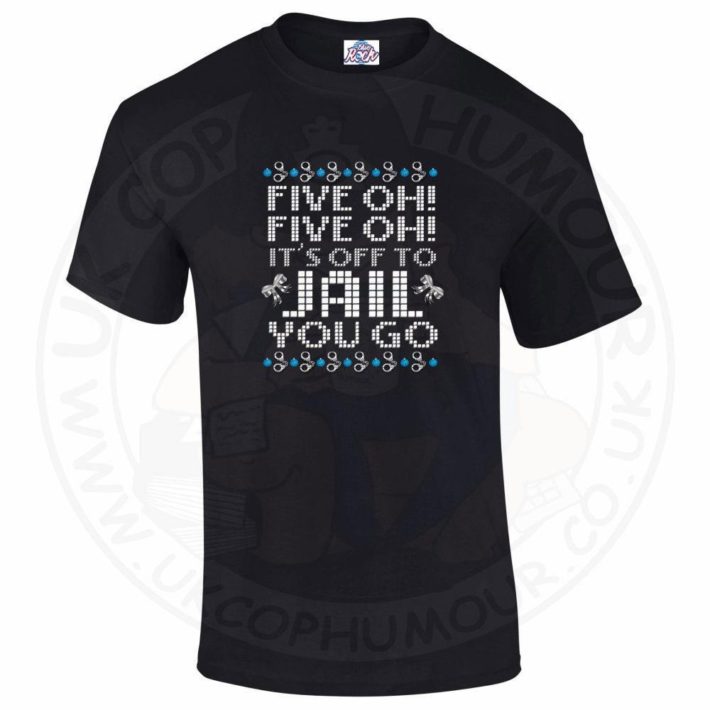 Mens Five OH Five OH T-Shirt - Black, 5XL