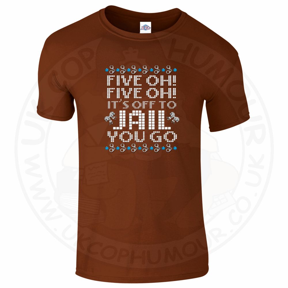 Mens Five OH Five OH T-Shirt - Chestnut, 2XL