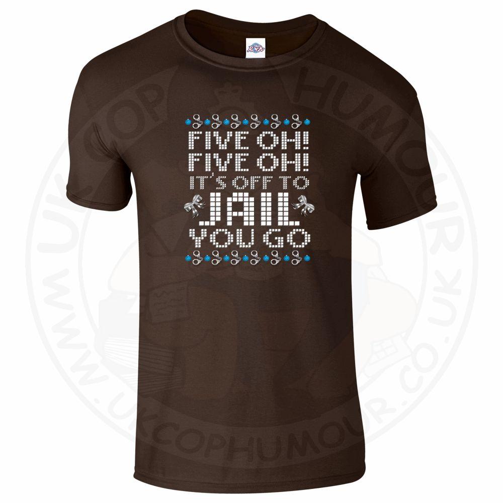 Mens Five OH Five OH T-Shirt - Dark Chocolate, 2XL
