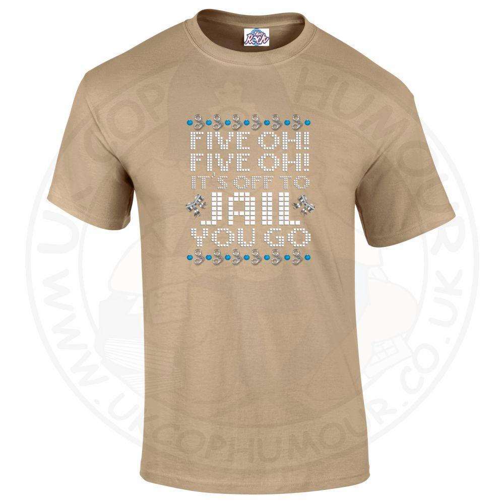 Mens Five OH Five OH T-Shirt - Desert, 2XL