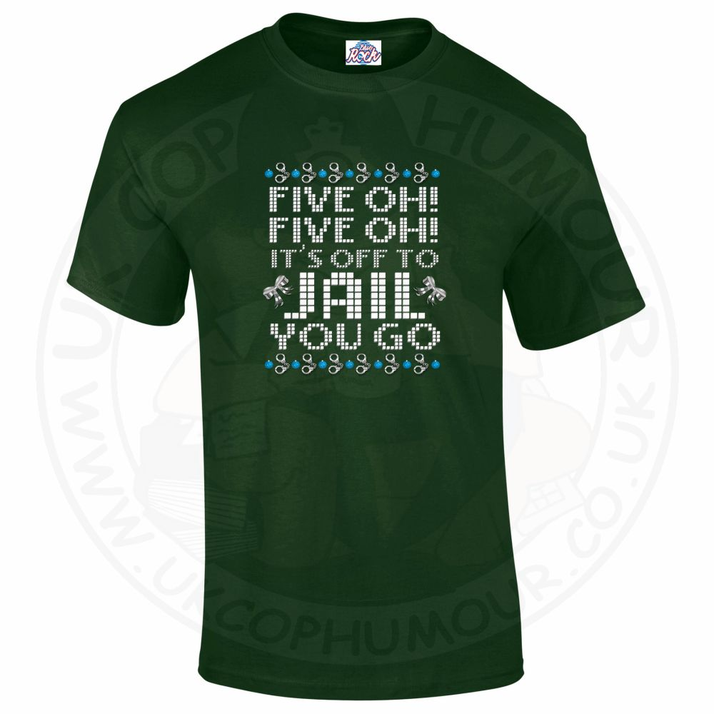 Mens Five OH Five OH T-Shirt - Forest Green, 2XL