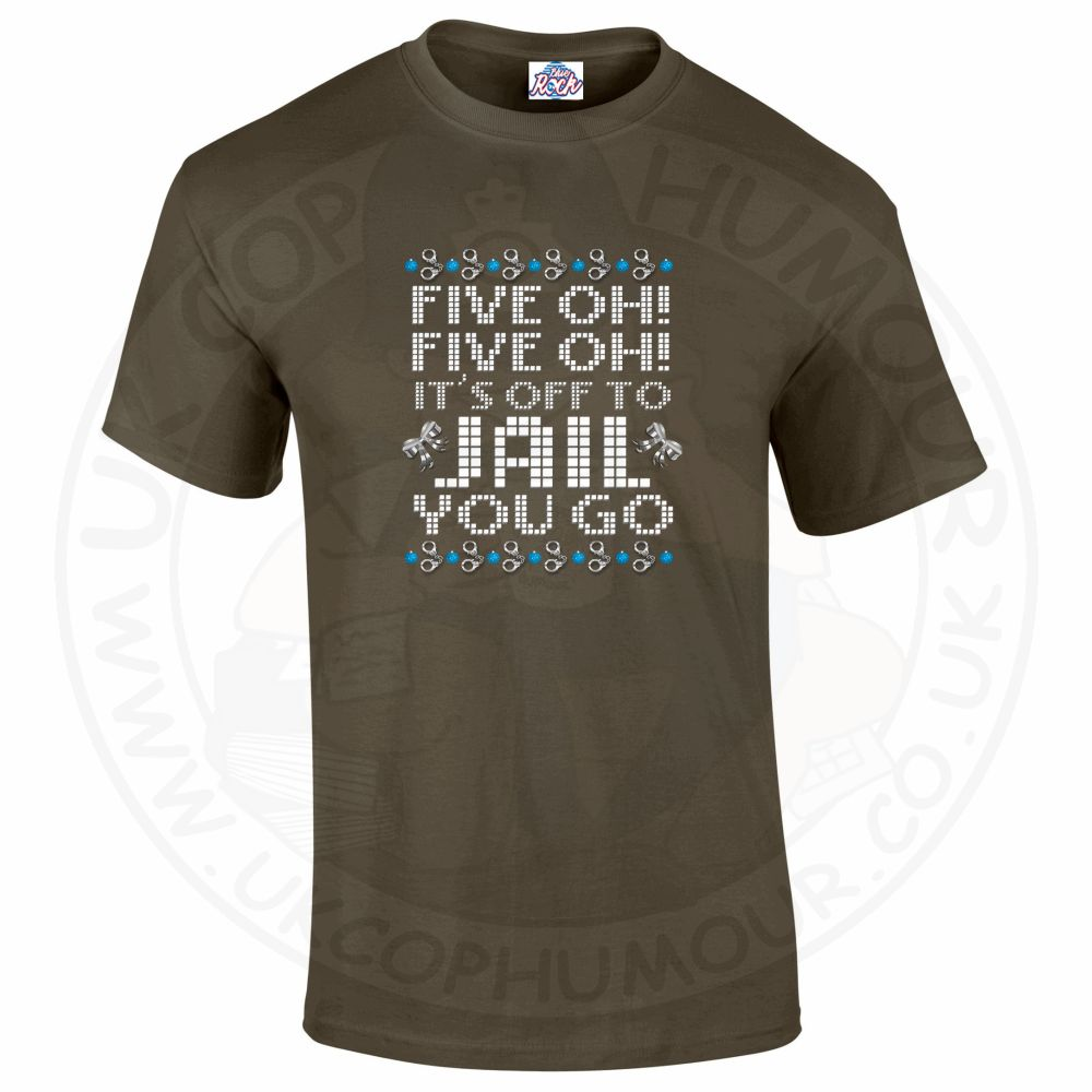 Mens Five OH Five OH T-Shirt - Military Green, 2XL