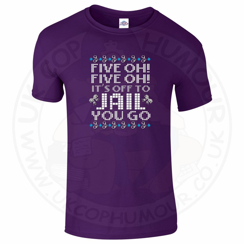 Mens Five OH Five OH T-Shirt - Purple, 2XL