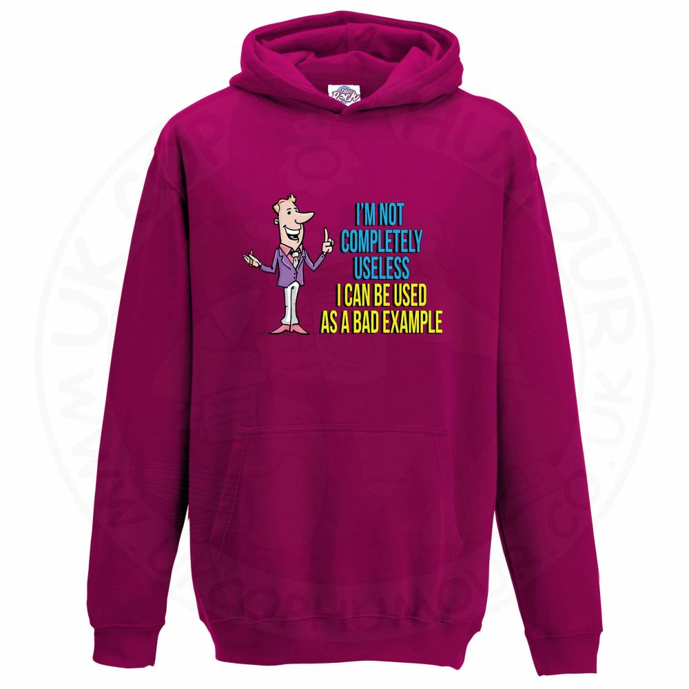 Kids NOT COMPLETELY USELESS Hoodie - Hot Pink, 12-13 Years