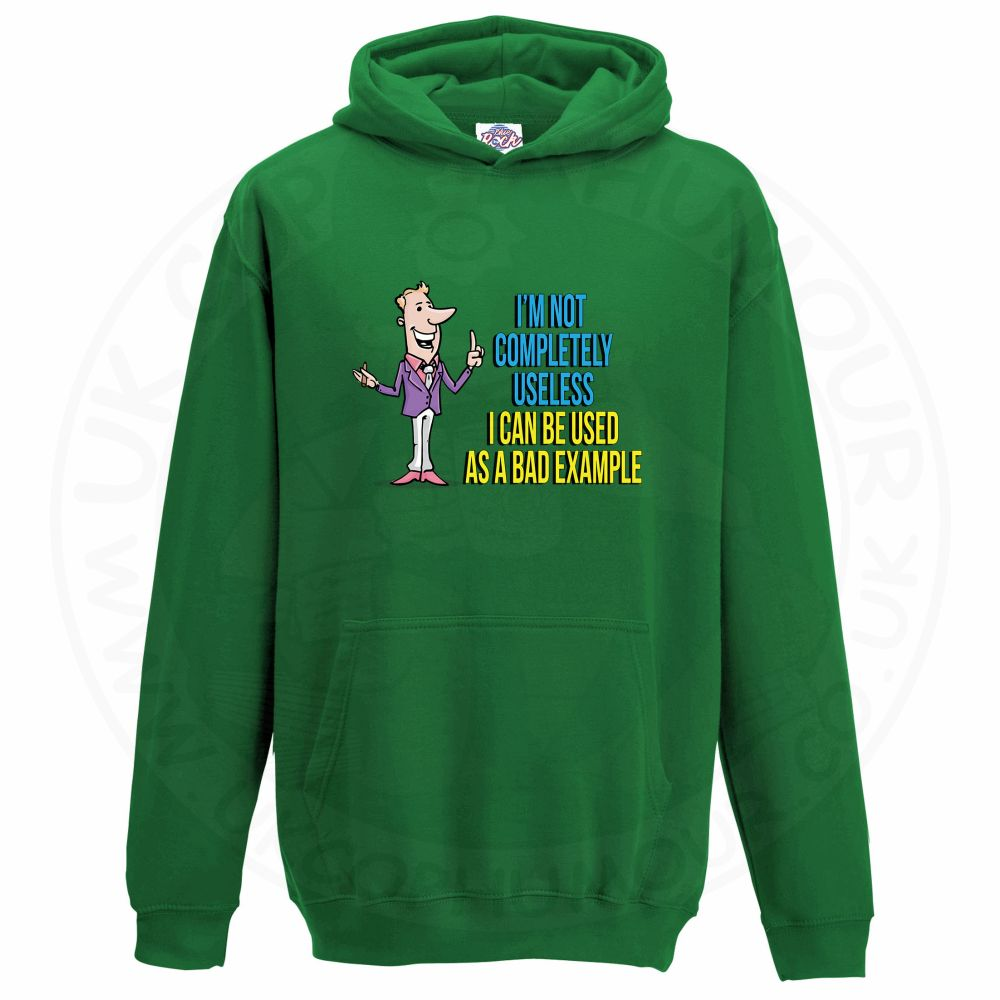 Kids NOT COMPLETELY USELESS Hoodie - Kelly Green, 12-13 Years