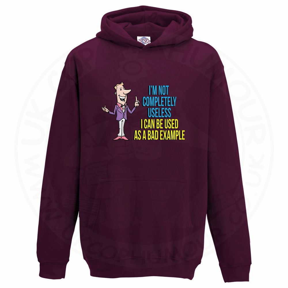 Kids NOT COMPLETELY USELESS Hoodie - Maroon, 12-13 Years