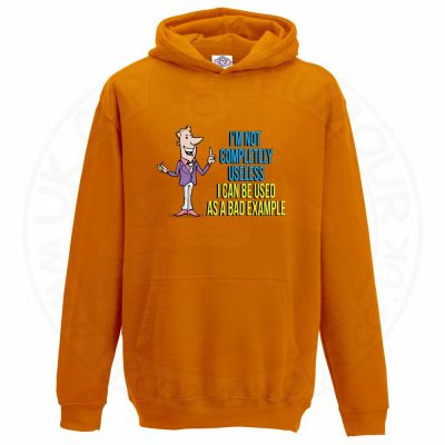 Kids NOT COMPLETELY USELESS Hoodie - Orange, 12-13 Years