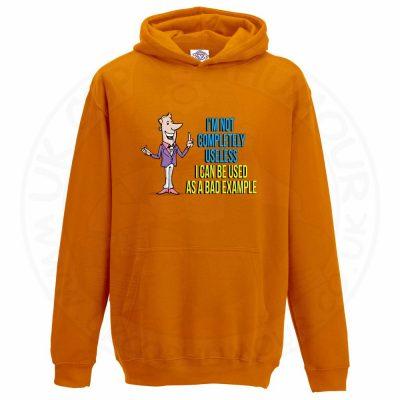 Kids NOT COMPLETELY USELESS Hoodie - Orange, 12-13 Years
