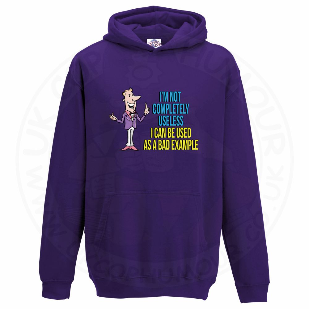 Kids NOT COMPLETELY USELESS Hoodie - Purple, 12-13 Years