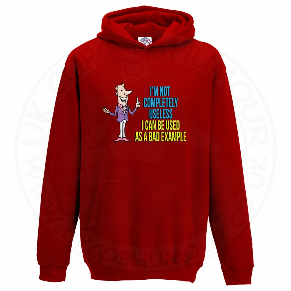 Kids NOT COMPLETELY USELESS Hoodie - Red, 12-13 Years