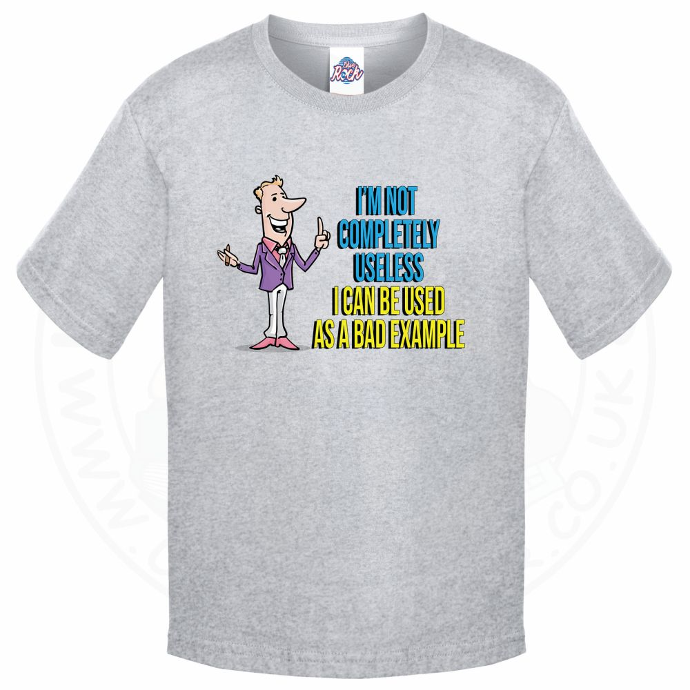 Kids NOT COMPLETELY USELESS T-Shirt - Grey, 12-13 Years