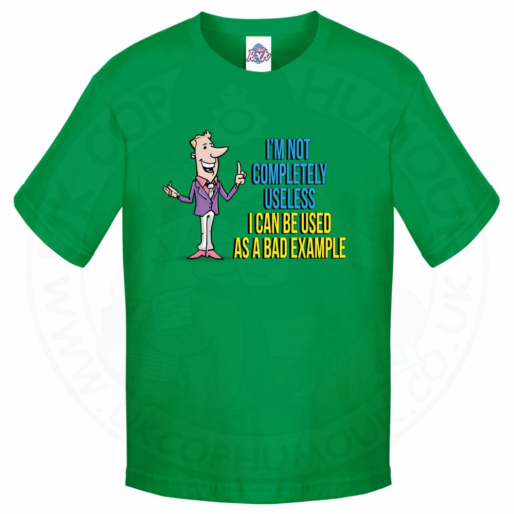 Kids NOT COMPLETELY USELESS T-Shirt - Kelly Green, 12-13 Years