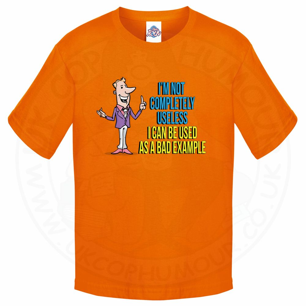 Kids NOT COMPLETELY USELESS T-Shirt - Orange, 12-13 Years