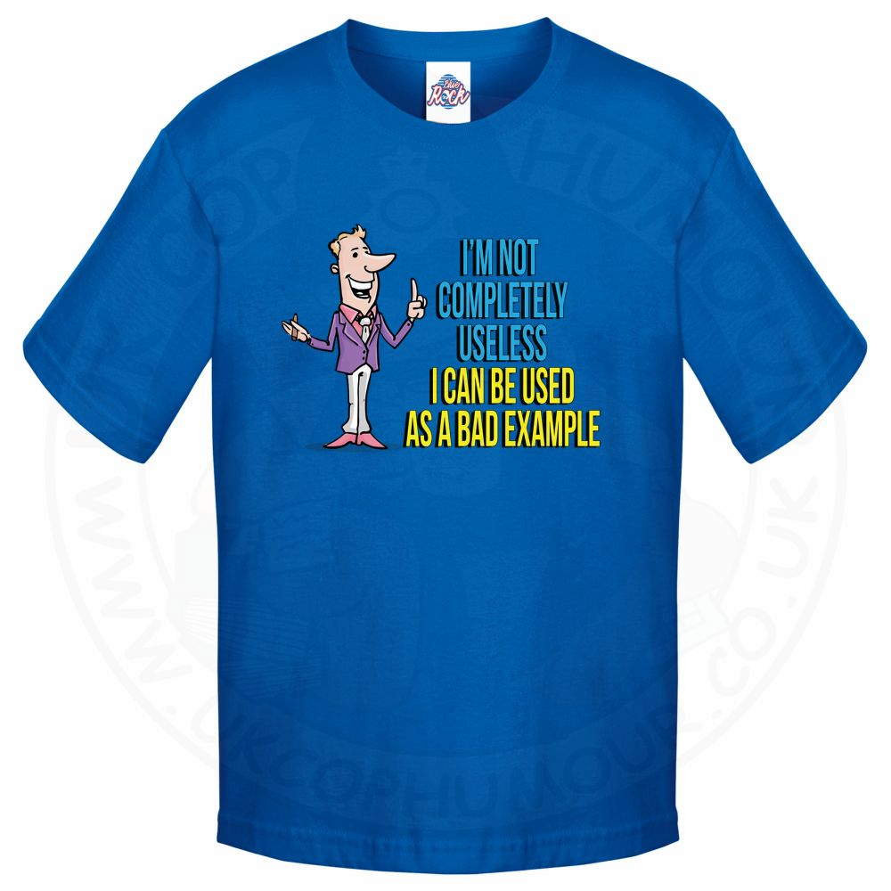 Kids NOT COMPLETELY USELESS T-Shirt - Royal Blue, 12-13 Years