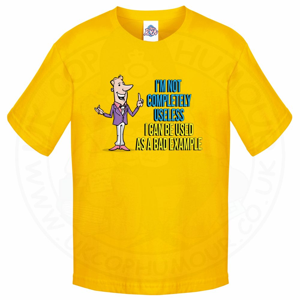 Kids NOT COMPLETELY USELESS T-Shirt - Yellow, 12-13 Years