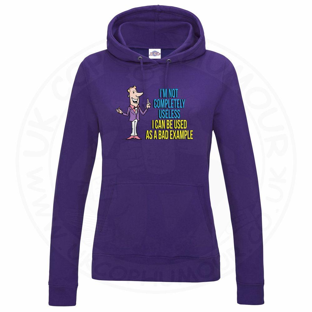 Ladies NOT COMPLETELY USELESS Hoodie - Purple, 18