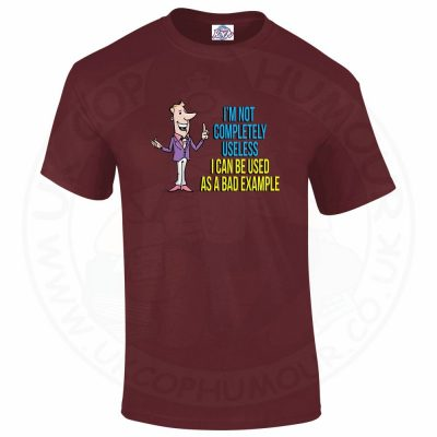 Mens NOT COMPLETELY USELESS T-Shirt - Maroon, 2XL
