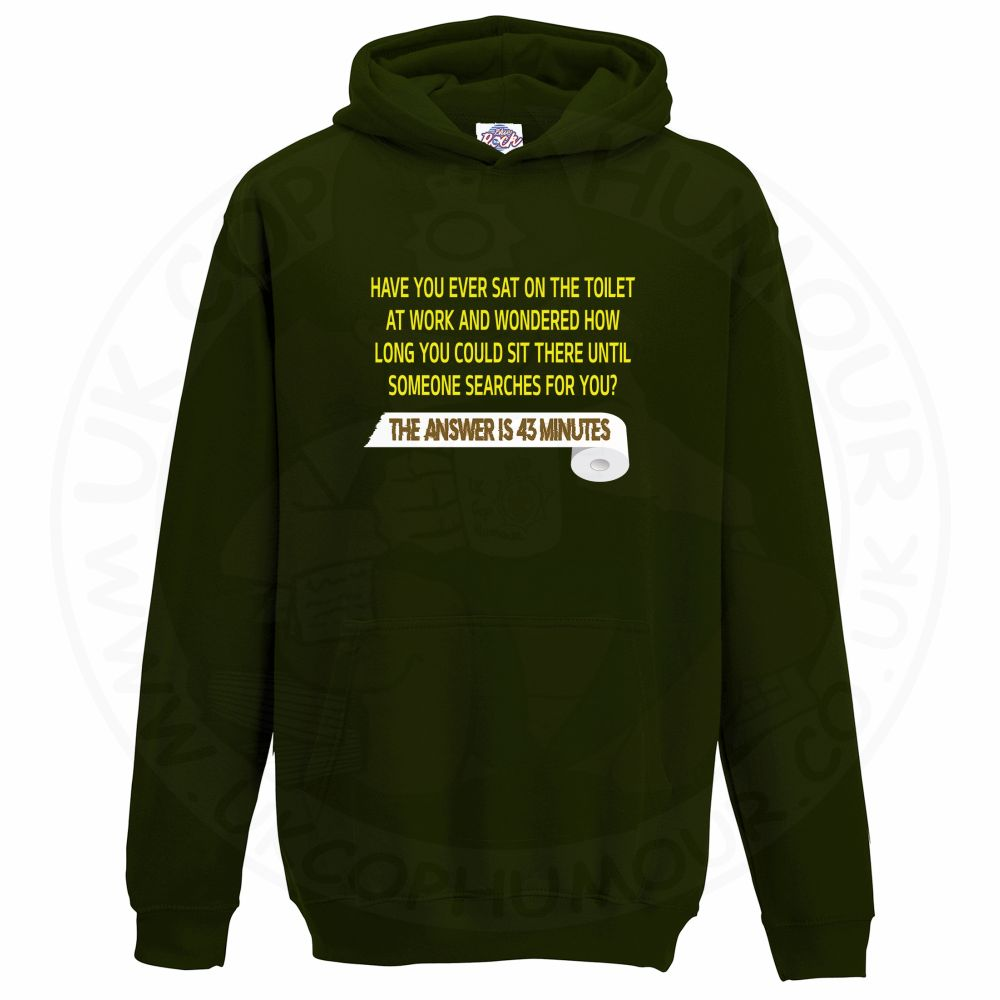 Kids TOILET SEARCH  Hoodie - Bottle Green, 12-13 Years