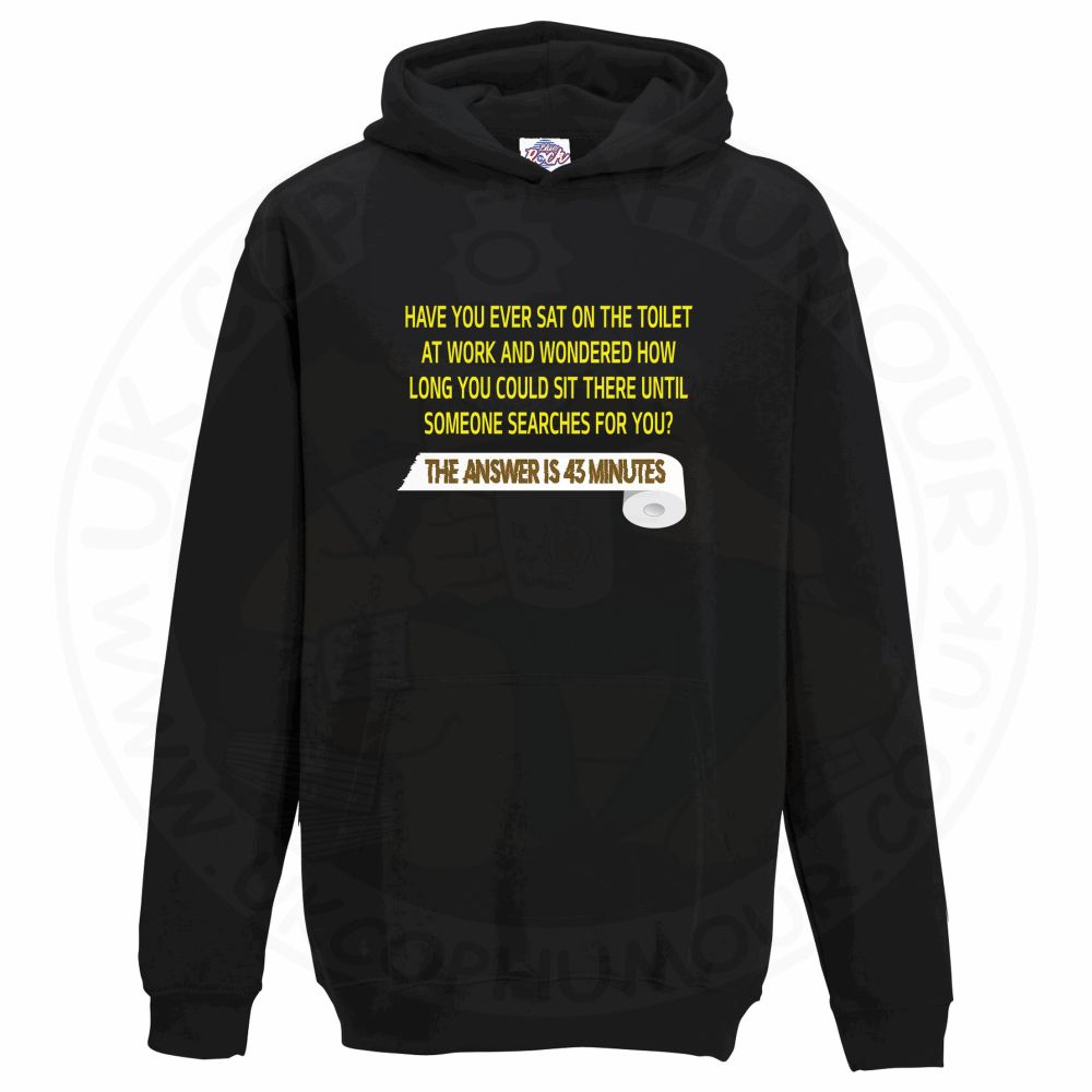 Kids TOILET SEARCH  Hoodie - Black, 12-13 Years