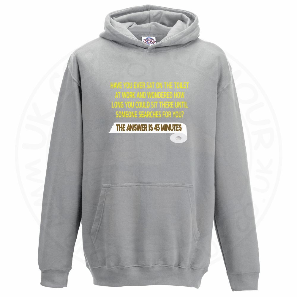 Kids TOILET SEARCH  Hoodie - Grey, 12-13 Years