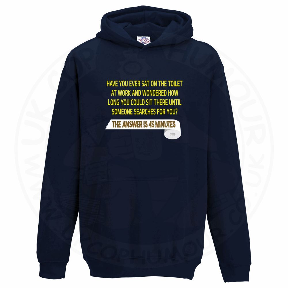 Kids TOILET SEARCH  Hoodie - Navy, 12-13 Years