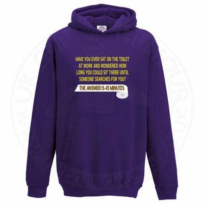 Kids TOILET SEARCH  Hoodie - Purple, 12-13 Years