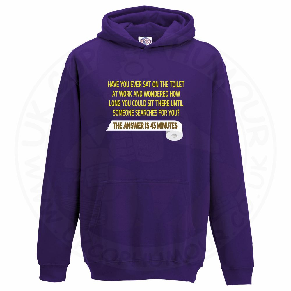 Kids TOILET SEARCH  Hoodie - Purple, 12-13 Years
