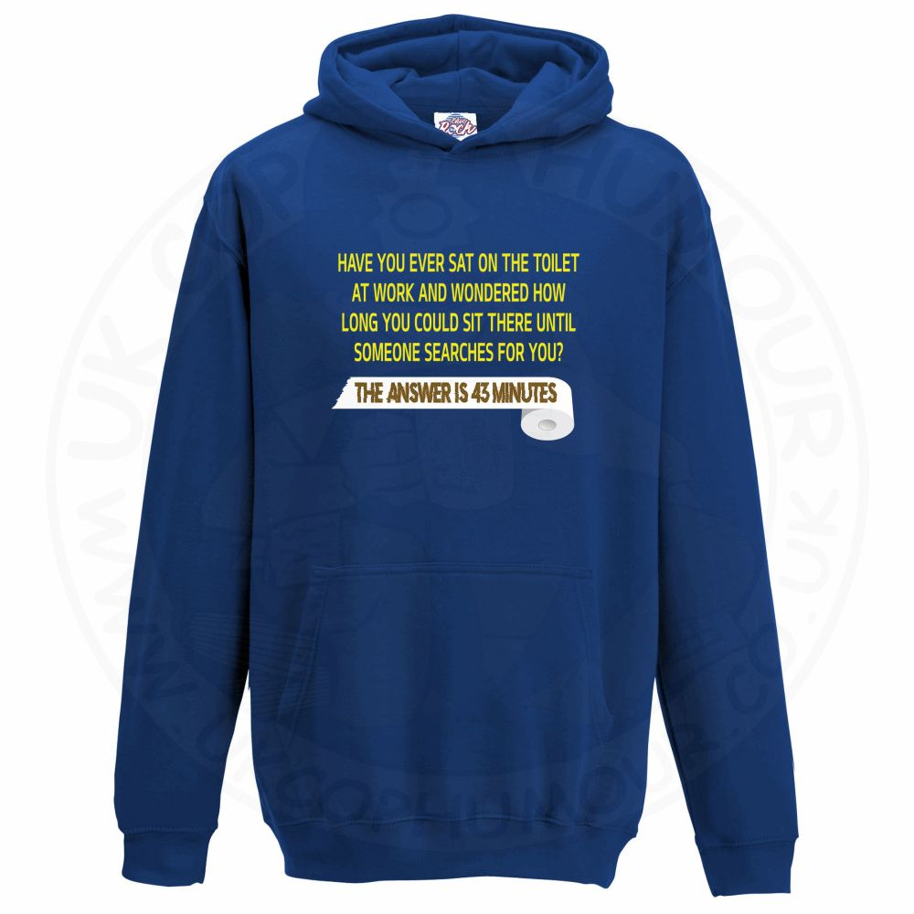 Kids TOILET SEARCH  Hoodie - Royal Blue, 12-13 Years