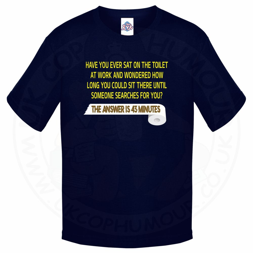 Kids TOILET SEARCH  T-Shirt - Navy, 12-13 Years