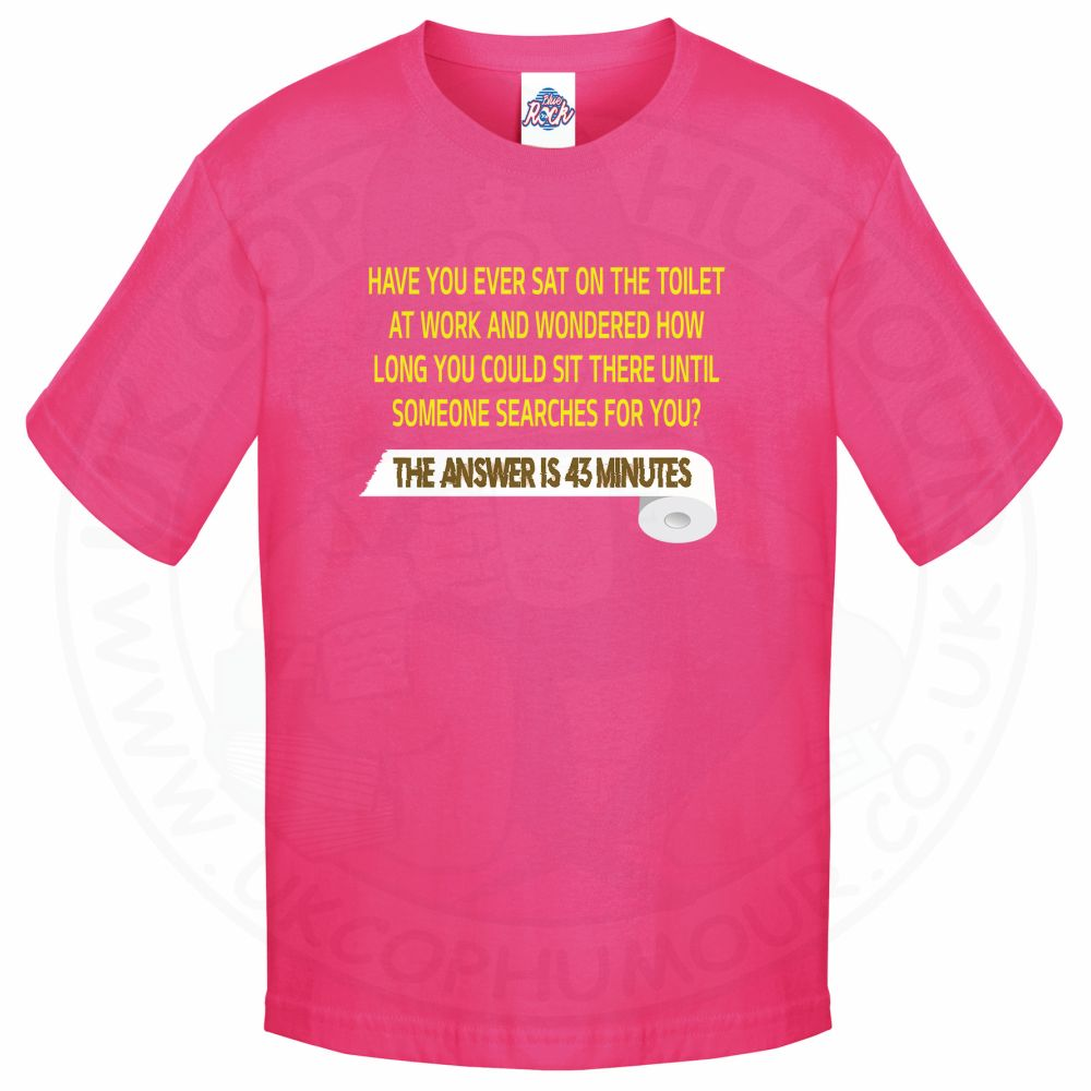 Kids TOILET SEARCH  T-Shirt - Pink, 12-13 Years