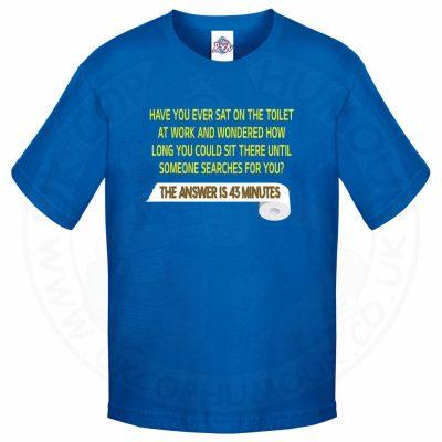 Kids TOILET SEARCH  T-Shirt - Royal Blue, 12-13 Years