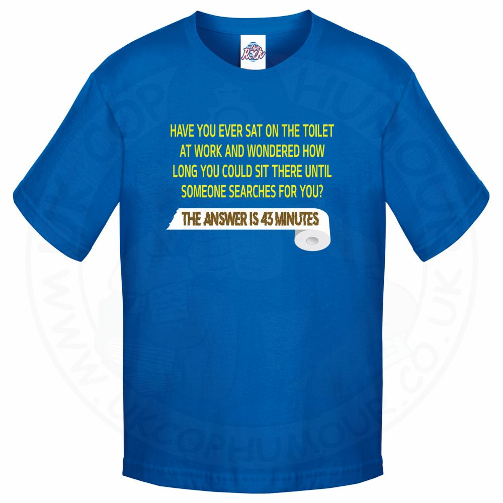 Kids TOILET SEARCH  T-Shirt - Royal Blue, 12-13 Years