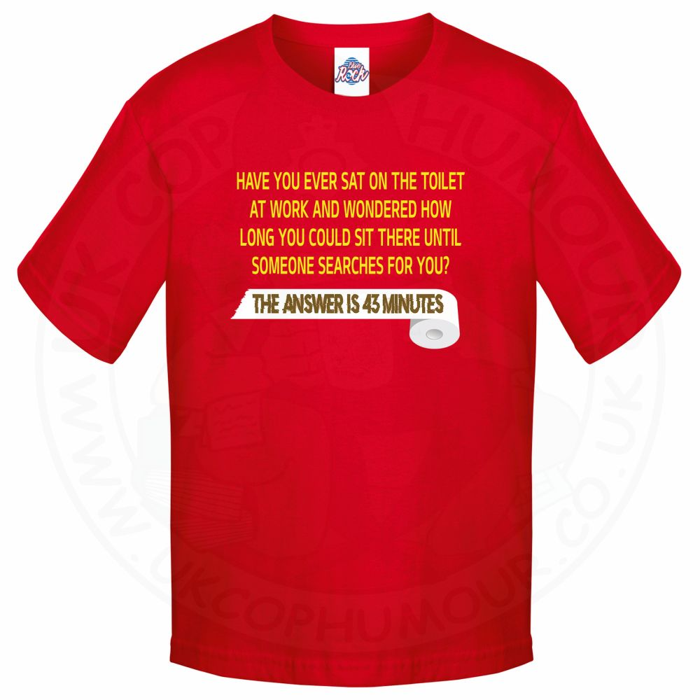 Kids TOILET SEARCH  T-Shirt - Red, 12-13 Years